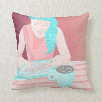 Coffee Girl Pillow