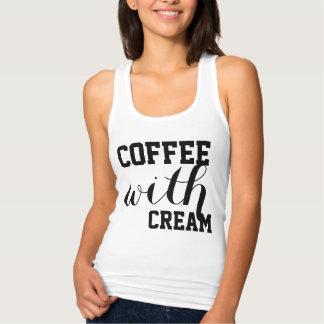 Kaffee mit Creme und Zucker durch CoffeeAddictMama Tank Top