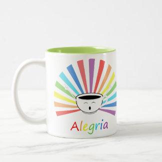 Kaffee mit Gefühlen Zweifarbige Tasse