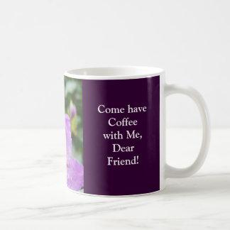 Kaffee mit lieben Freunden! Lila Rhodies Blumen Tasse
