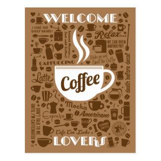 Kaffee-Muster Postkarte