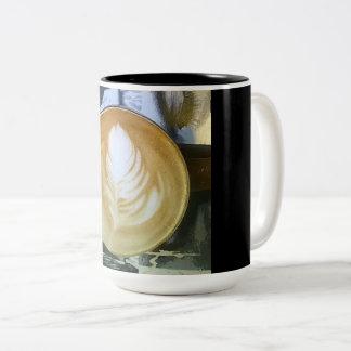 Kaffee nach innen u. heraus zweifarbige tasse