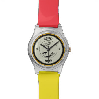 Kaffee-Power Armbanduhr
