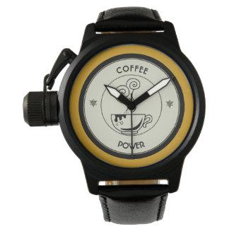 Kaffee-Power Uhr