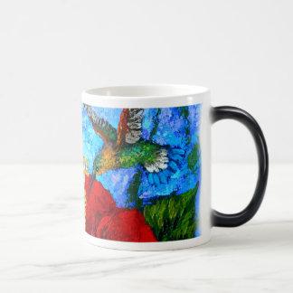 Kaffee-Reise-Tasse mit dem Kolibri-Malen Verwandlungstasse