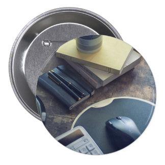 Kaffee Runder Button 7,6 Cm