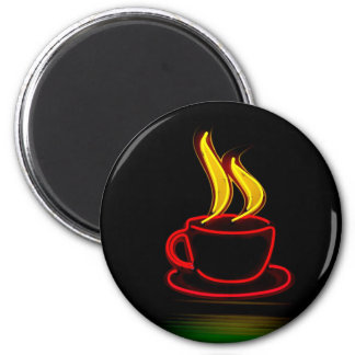 Kaffee Runder Magnet 5,7 Cm
