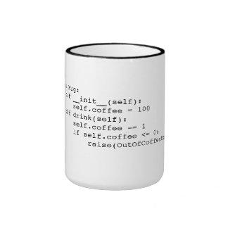 Kaffee-Schleife Ringer Tasse