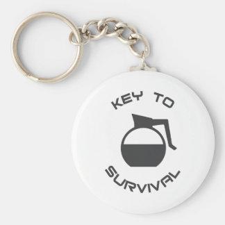 Kaffee-Schlüssel zum Überleben Schlüsselanhänger