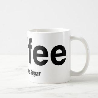 Kaffee, Schwarzes, kein Zucker Kaffeetasse