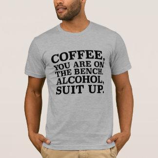 Kaffee, sind Sie auf der Bank. Shirt