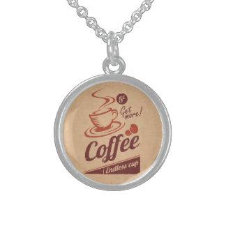 Kaffee Sterling Silberkette