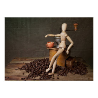 Kaffee-Stillleben Plakatdruck