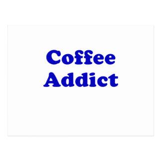 Kaffee-Süchtiger Postkarte