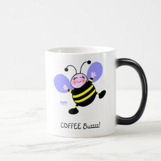 Kaffee-Summen-Hummel-Koffein-Süchtig-niedliches Verwandlungstasse