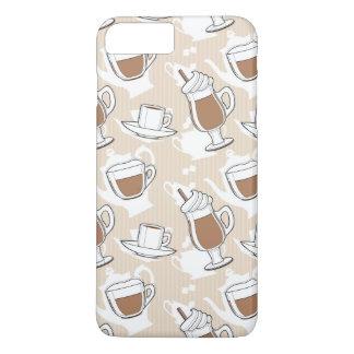 Kaffee, süßes Muster iPhone 8 Plus/7 Plus Hülle