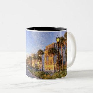 Kaffee-Tasse Charlestons, South Carolina Zweifarbige Tasse