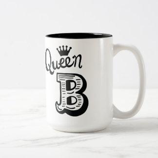 Kaffee-Tasse der Königin B Zweifarbige Tasse