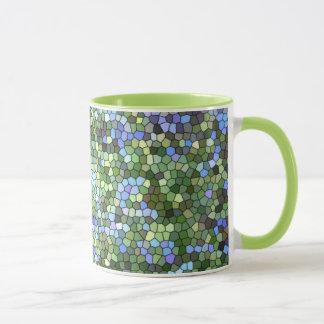 """Kaffee-Tasse """"des blauen, grünen und lila Tasse"""
