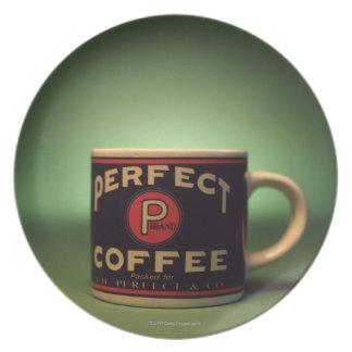 Kaffee-Tasse Flache Teller