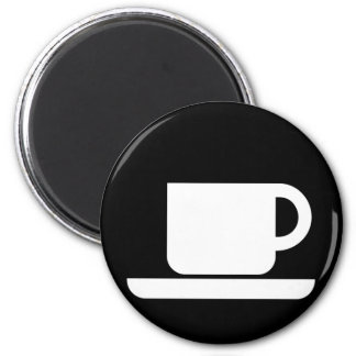 Kaffee-Tasse für Kaffeeliebhaber! Runder Magnet 5,1 Cm