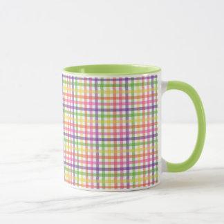 Kaffee-Tasse - kariert für gemalte Spinnen-Mama Tasse
