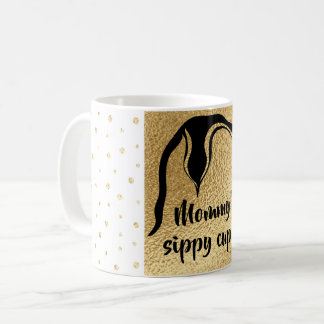 "Kaffee-Tasse ""klassischer GoldmamaPenguin"" Sippy Kaffeetasse"
