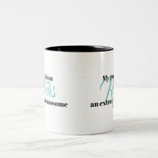 """Kaffee-Tasse """"mein Enkel schaukelt ein Zweifarbige Tasse"""