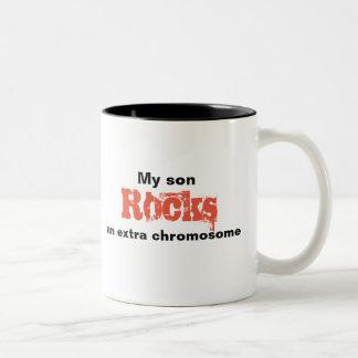 """Kaffee-Tasse """"mein Sohn schaukelt ein Zweifarbige Tasse"""