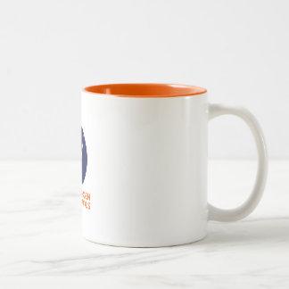 Kaffee-Tasse mit dem Logo Kopenhagens Suborbitals Zweifarbige Tasse
