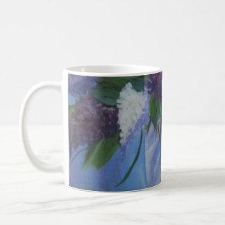 Kaffee-Tasse mit Fliedern Kaffeetasse