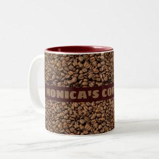 Kaffee-Tasse mit Ihrem Namen auf ihm Zweifarbige Tasse