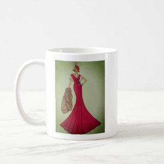 Kaffee-Tasse mit Mode-Illustration Kaffeetasse