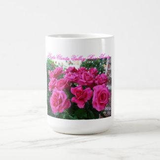 Kaffee-Tasse mit rosa Rosen Tasse