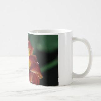 Kaffee-Tasse mit roter u. gelber Lilie Tasse