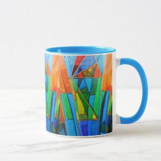 Kaffee-Tasse--Murano Glasorange Tasse