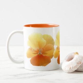 Kaffee-Tasse - orange Pansy Zweifarbige Tasse