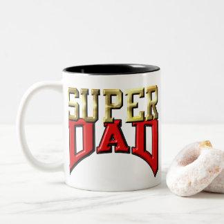 """Kaffee-Tasse - """"SUPERvati """" Zweifarbige Tasse"""
