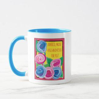 """Kaffee-Tasse """"XXXOOO Umarmungen u. Küsse """" Tasse"""