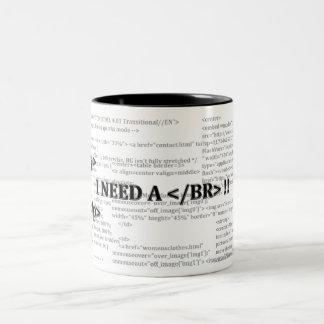 Kaffee-Tasse Zweifarbige Tasse