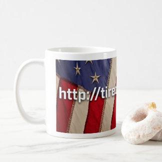 Kaffee-Tassen-Flagge ermüdet vom Gewinnen von RU Kaffeetasse