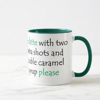 Kaffee-Tassengeschenk für ein veganes Tasse