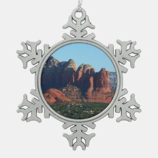 Kaffee-Topf-Felsen I in Sedona Arizona Schneeflocken Zinn-Ornament
