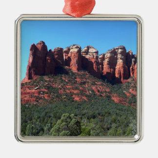 Kaffee-Topf-Felsen II in Sedona Arizona Quadratisches Silberfarbenes Ornament