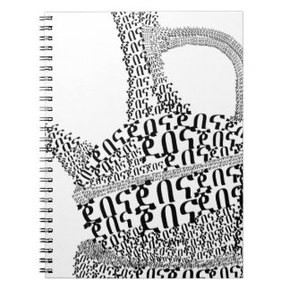Kaffee-Topf-Text-Entwurf Notizblock