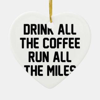 Kaffee u. Lauf Keramik Herz-Ornament