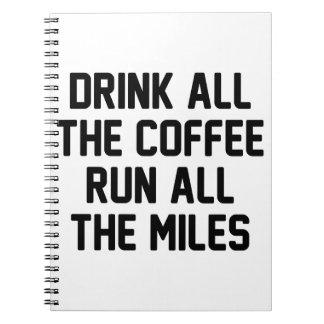 Kaffee u. Lauf Notizblock