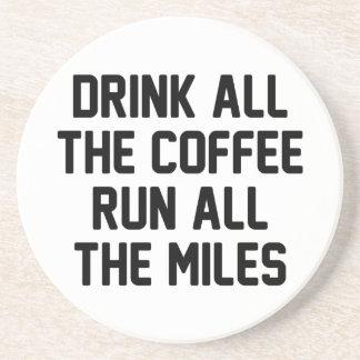Kaffee u. Lauf Sandstein Untersetzer