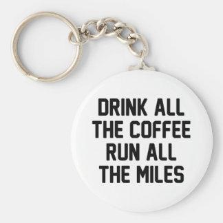 Kaffee u. Lauf Schlüsselanhänger