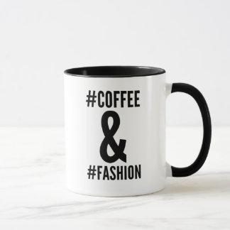 Kaffee u. Mode hashtag Tasse